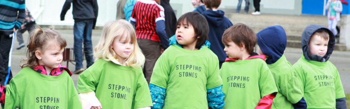 Port Alberni Children in the Stepping Stones Outfits